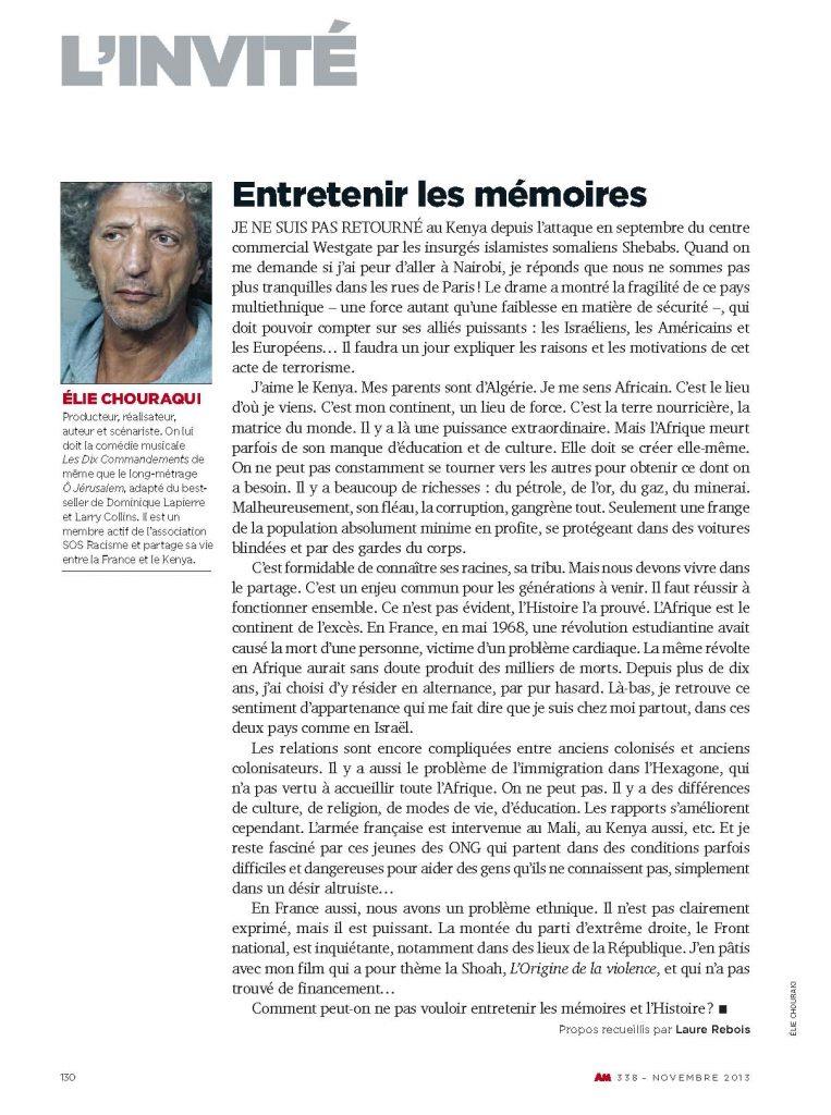L'INVITÉ - Elie-CHOURAQUI